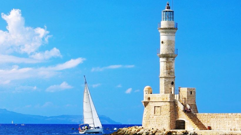the-lighthouse-of-the-venetian-harbour-of-chania-in-crete