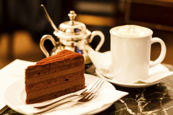 Chocolate cake in Demel café, Vienna